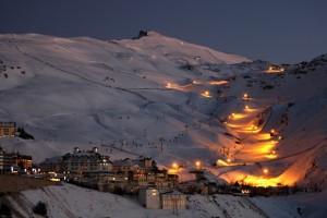 Pistas de esqui de noche