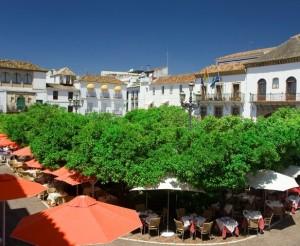 plaza de los naranjos en Marbella